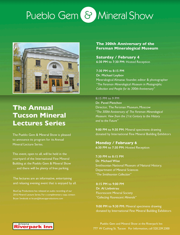 2017 Mineral Lecture Series at the Pueblo Gem & Mineral Show #RiverparkInn