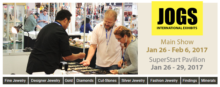 Vendors from 26 Countries Coming to the 2017 JOGS Gem and Jewelry Show, Jan 26 - Feb 6