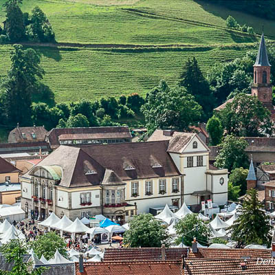 The little French Alsatian town of Sainte-Marie-aux-Mines hosts one of the world's finest gem and mineral shows, which draws over 900 vendors each June.