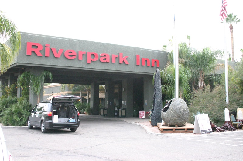 Riverpark Inn, home of one of Tucson's finest shows, the Pueblo Gem & Mineral Show.