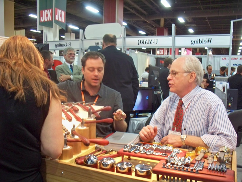 "Rio Grande's ""Catalog In Motion"" features Industry experts demonstrating their products....above, Bill Fretz, Fretz Hammers"