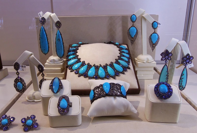 Sutra's vibrant Turquoise and Sapphire Collection