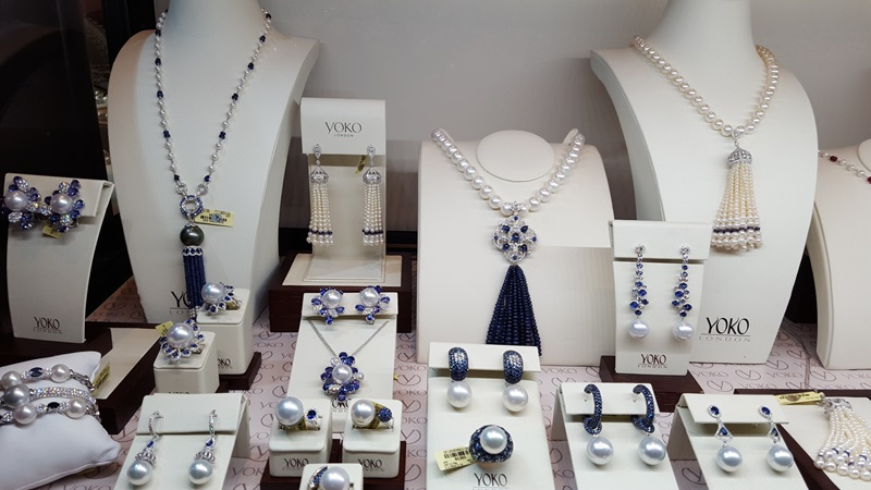 YOKO London took Pearls to the next level with Sapphires