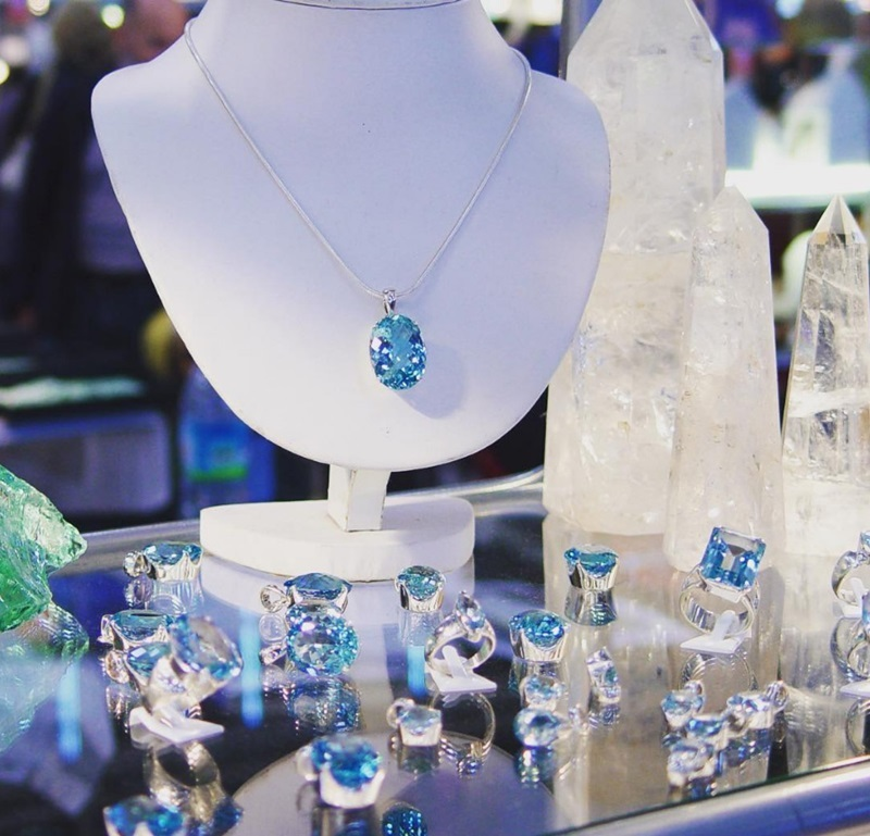 Topaz Jewelry is just a small portion of the jewels you can find in the Gemstone Pavilion at the JOGS Gem Show.