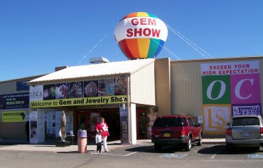 The Jogs Show is at the Tucson Expo Center and readily visible - look for the balloon!