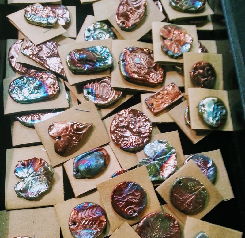 Shimmering handcrafted Raku charms at the Bead Renaissance Show at the Denver Mart/Plaza Denver Shows   Photos: Robyn Hawk