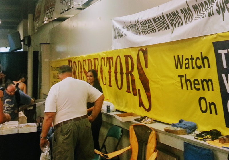 "The Weather Channel's ""Prospectors"" are local celebrities that set up at the Denver Coliseum Show. Denver Shows     Photos: Robyn Hawk"