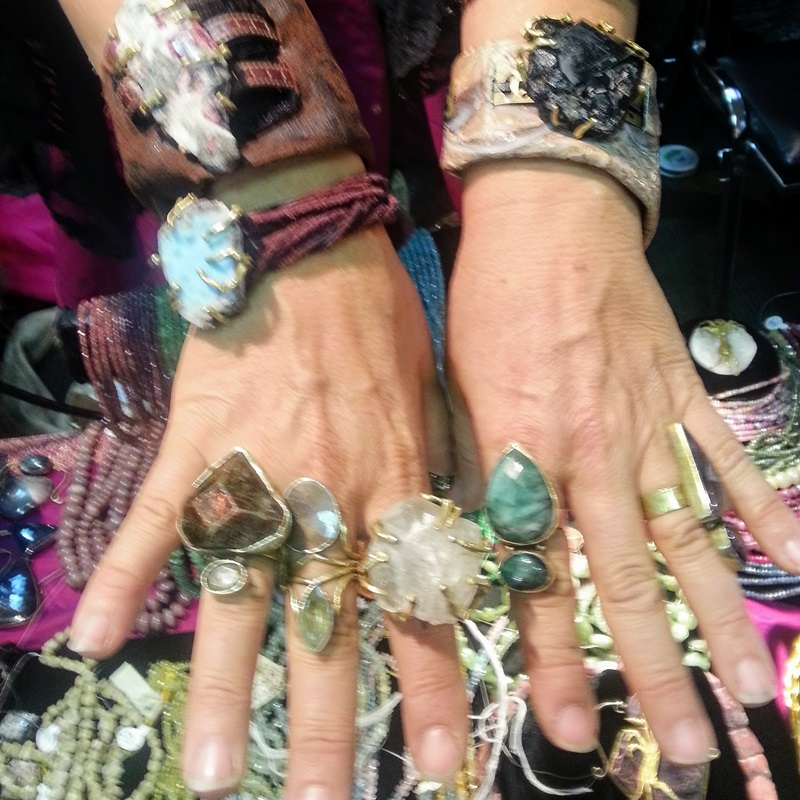 Beads and Components along with finished jewelry in rare and raw gems at the Bead Renaissance Show at the Denver Mart/Plaza....Kia Gems says #ShowMeYourRings - the Denver Gem Show edition. Denver Shows    Photo: Robyn Hawk