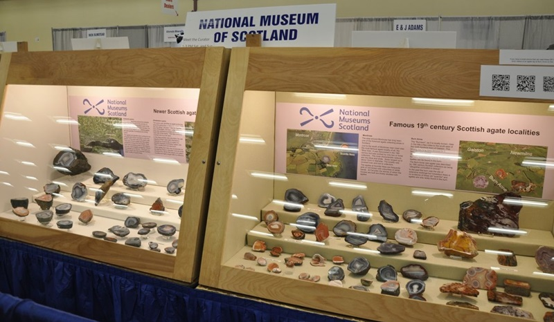 The Denver Gem & Mineral Show is a Gem & Mineral Club show and the thing that makes a club show different is their mission to educate.  You will find cases of Gem & Mineral displays with short learning opportunities at the Denver Mart/Expo Center. Denver Shows     Photos: Robyn Hawk