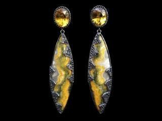 Bumble Bee Jasper Earrings
